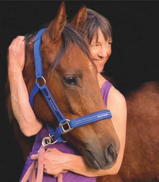 Heidrun Nussbaum mit Pferd